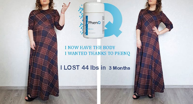 Before and after using weight loss pills