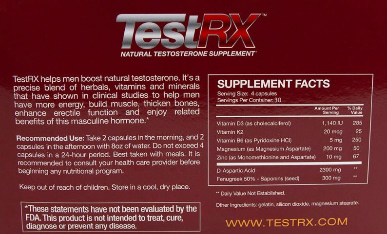 Testrx Ingredients