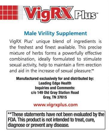 VigRX Plus Active Ingredients